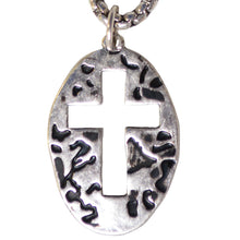 Load image into Gallery viewer, Faith Gear Oval Cross Mens Necklace - Science On Supply