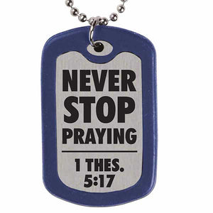 Play Hard Pray Hard Dog Tag Necklace - Science On Supply