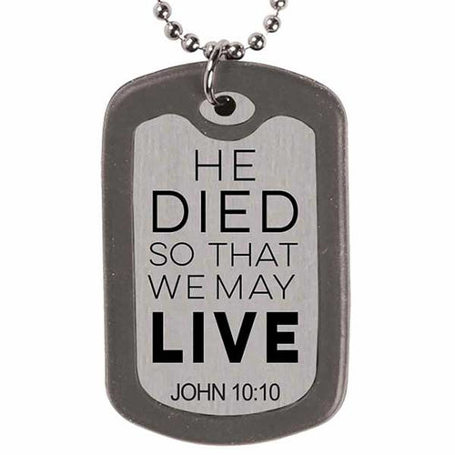Savior Dog Tag Necklace - Science On Supply