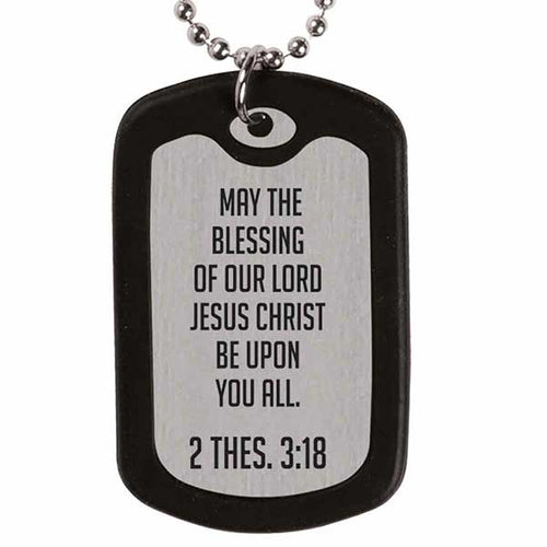 May The Lord Dog Tag Necklace - Science On Supply