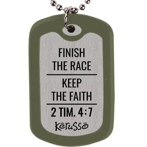 Faith Gear Fight The Good Fight Dogtag Necklace - Science On Supply