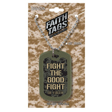 Load image into Gallery viewer, Faith Gear Fight The Good Fight Dogtag Necklace - Science On Supply