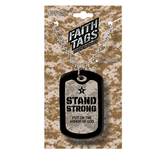 Faith Gear Stand Strong Camo Dogtag Necklace - Science On Supply