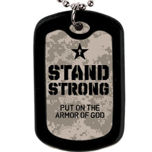 Load image into Gallery viewer, Faith Gear Stand Strong Camo Dogtag Necklace - Science On Supply