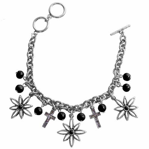 Flower Cross Silver Women's Bracelet - Science On Supply