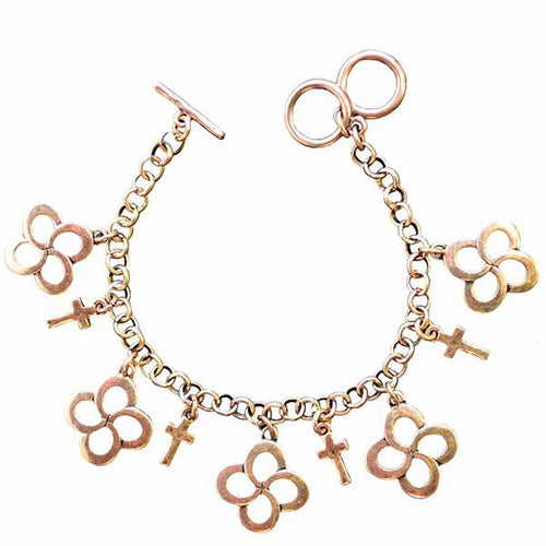 Swirl Cross Gold Women's Bracelet - Science On Supply