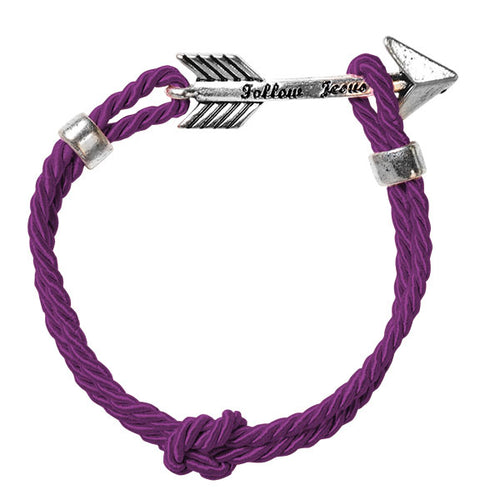 Faith Gear® Womens Arrow Bracelet Plum - Science On Supply