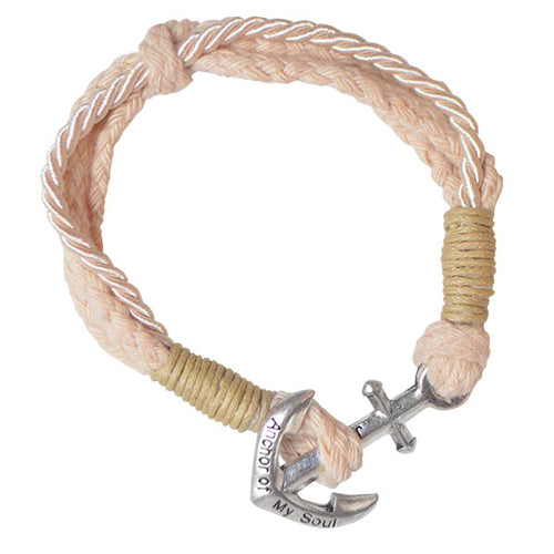 Faith Gear® Womens Anchor Bracelet Natural - Science On Supply