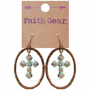 Faith Gear Oval Crosses Womens Earrings - Science On Supply