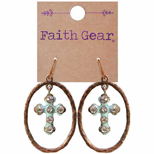 Oval Crosses Women's Earrings - Science On Supply