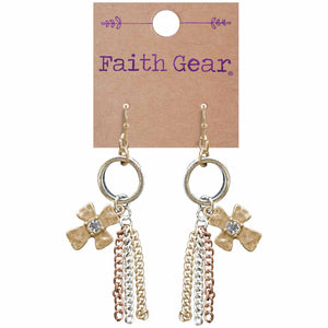 Faith Gear Tassel Crosses Womens Earrings - Science On Supply
