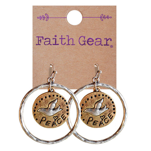Faith Gear Women's Earrings - Peace - Science On Supply