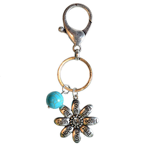 Faith Gear Women's Keychain - Flowers - Science On Supply