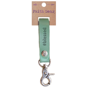 Faith Gear #blessed Womens Leather Keychain - Science On Supply