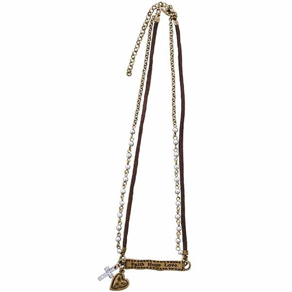 Faith Hope Love Women's Necklace - Science On Supply