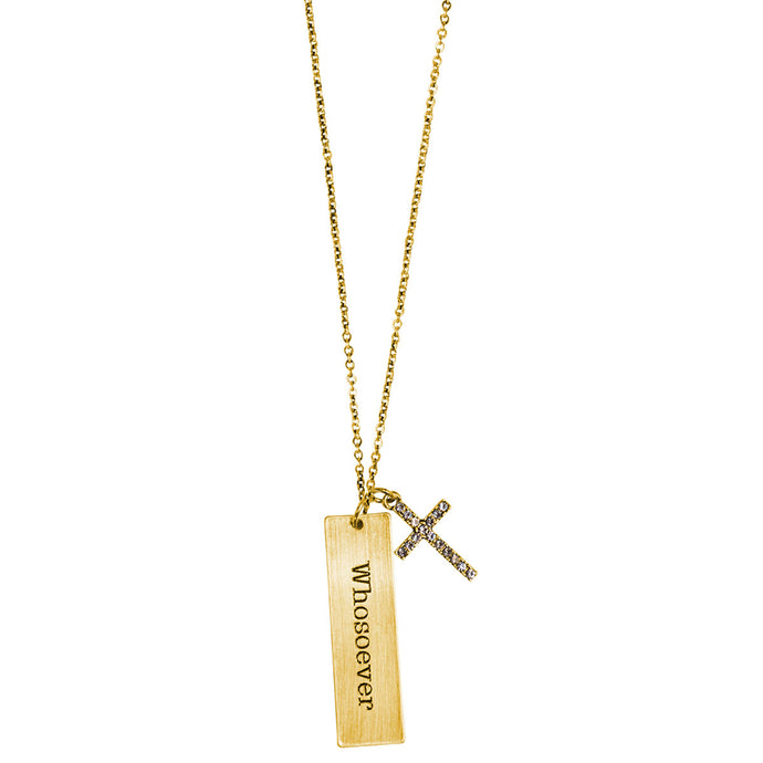 Faith Gear Tab Whosoever Womens Necklace - Science On Supply