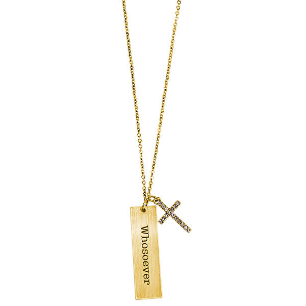 Faith Gear® Whosoever Womens Tab Necklace - Science On Supply
