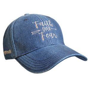 grace & truth® Womens Hat Faith Over Fear - Science On Supply