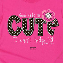 Load image into Gallery viewer, God Made Me Cute - Childrens Christian Shirt - Science On Supply