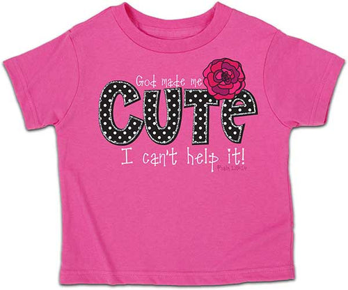 God Made Me Cute - Childrens Christian Shirt - Science On Supply
