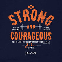 Load image into Gallery viewer, Strong and Courageous Kids Christian T-Shirt - Science On Supply