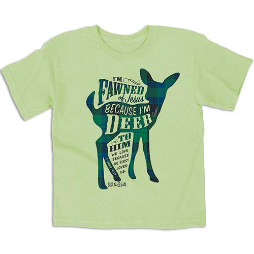 I'm Fawned Of Jesus Kids Christian T-Shirt - Science On Supply