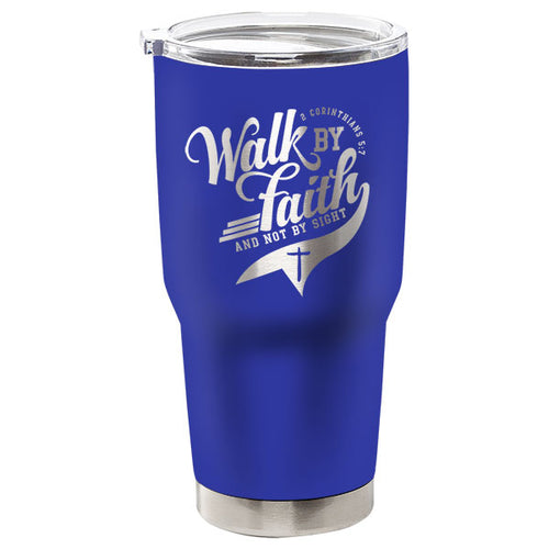 Kerusso® Walk By Faith Not By Sight Stainless Steel Tumbler - Science On Supply