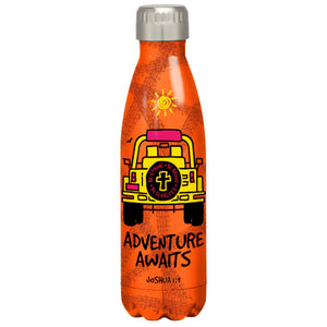 Kerusso Adventure Awaits Stainless Steel Water Bottle - Science On Supply