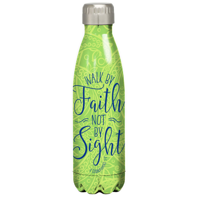 Kerusso Walk By Faith Stainless Steel Water Bottle - Science On Supply