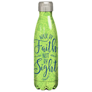 Kerusso® Walk By Faith Not By Sight Stainless Steel Water Bottle - Science On Supply