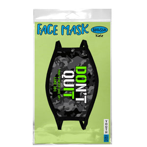 Kerusso Youth Face Mask Black &  Camo - Science On Supply