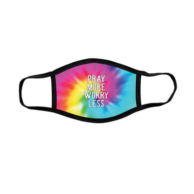 Kerusso Youth Face Mask Pray More Tie Dye - Science On Supply