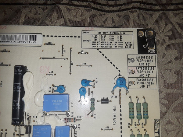 LG 42LE5400 Power Board ( Eay60803102 ) - Science On Supply