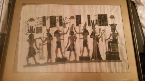 Isis Original Papyrus Painting | Ra Papyrus Institute - Science On Supply