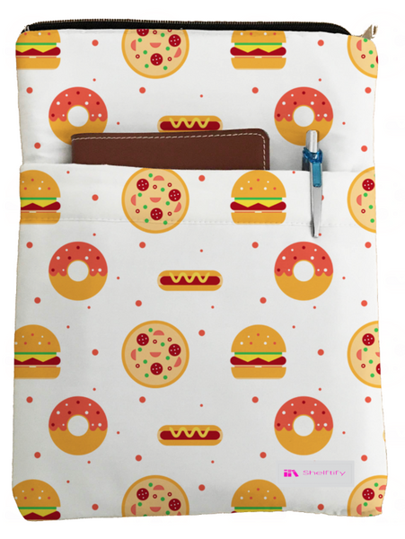 Donuts Book Sleeve - Book Cover For Hardcover and Paperback - Book Lover Gift - Notebooks and Pens Not Included