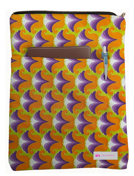 Abstract Flower Book Sleeve - Deluxe Japanese Cotton