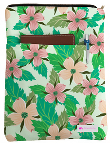 Illustrated Floral Book Sleeve - Book Cover For Hardcover and Paperback - Book Lover Gift - Notebooks and Pens Not Included