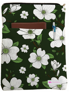 Dogwood Flowers Book Sleeve - Book Cover For Hardcover and Paperback - Book Lover Gift - Notebooks and Pens Not Included
