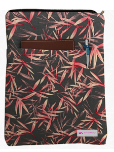 Red and Blue Bamboo Grande Book Sleeve - 100% Cotton Fabric