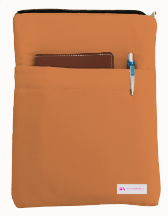 Apricot Book Sleeve - 100% Cotton Fabric