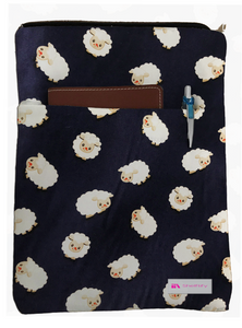 Sheep Book Sleeve - 100% Cotton Fabric