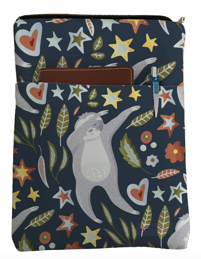 Dabbing Sloth Book Sleeve - Book Cover For Hardcover and Paperback - Book Lover Gift - Notebooks and Pens Not Included