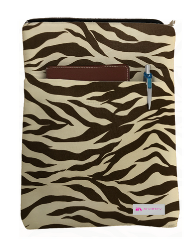 Leopard Print Book Sleeve - 100% Cotton Fabric