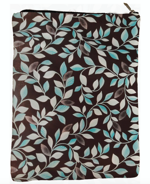 Blue Leaves Book Sleeve - Deluxe Japanese Cotton