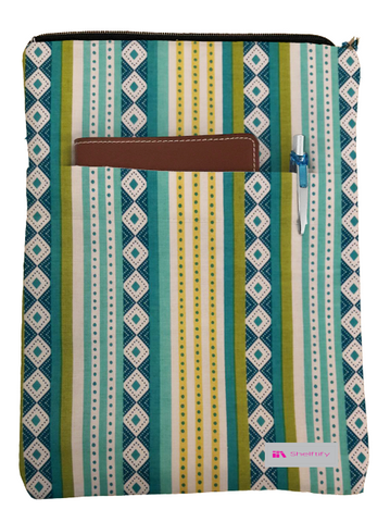 Bohemian Print Book Sleeve - Deluxe Japanese Cotton