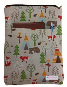 Foxes & Bears Book Sleeve - 100% Cotton Fabric