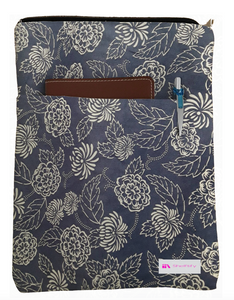 Illustrated Flowers Book Sleeve - 100% Cotton Fabric