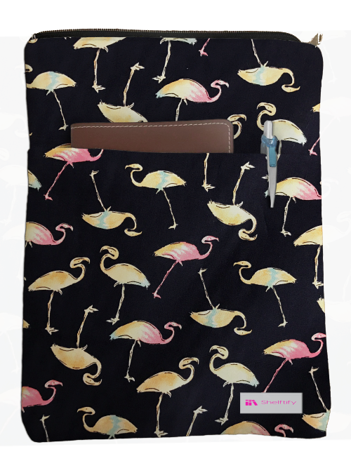 Flamingo Book Sleeve - 100% Cotton Fabric