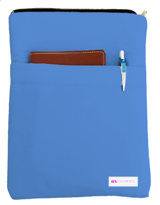 Cornflower Blue Book Sleeve - 100% Cotton Fabric