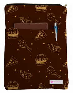 Yummy Book Sleeve - Book Cover For Hardcover and Paperback - Book Lover Gift - Notebooks and Pens Not Included